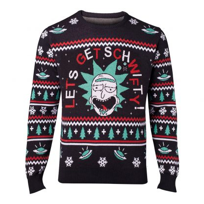 Rick and Morty Get Schwifty Jultröja - Small