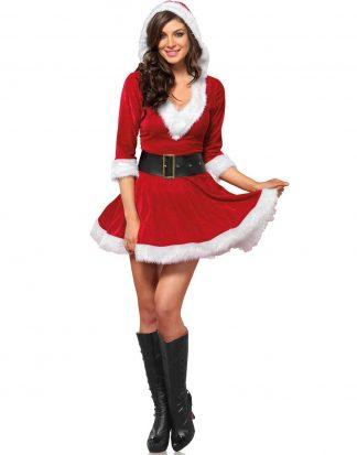 Jultomteklänning med Huva och Bälte