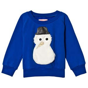 BANGBANG Copenhagen Snowman Tröja Royal Blue 1-2 years
