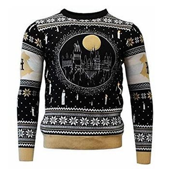 Harry Potter / Christmas jumper / Hogwarts LED M