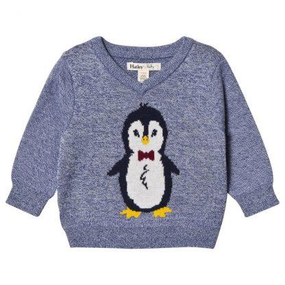 Hatley Pingvin Tröja Blå 9-12 months