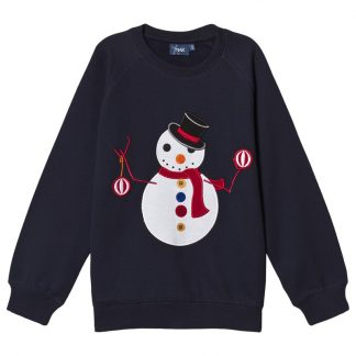 Max Collection Snögubbe Sweatshirt Marinblå 110-116