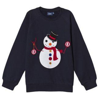 Max Collection Snögubbe Sweatshirt Marinblå 92 cm
