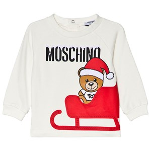 Moschino Kid-Teen Santa Bear Print T-shirt Vit 9-12 months