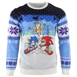 Sonic / Christmas jumper / Skiing XL