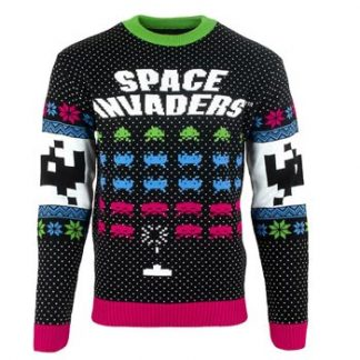 Space invaders / Christmas jumper XL