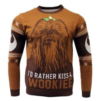 Star Wars / Christmas jumper / Kiss a Wookie L