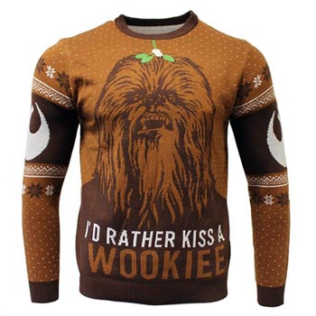 Star Wars / Christmas jumper / Kiss a Wookie S