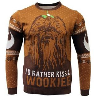 Star Wars / Christmas jumper / Kiss a Wookie XL