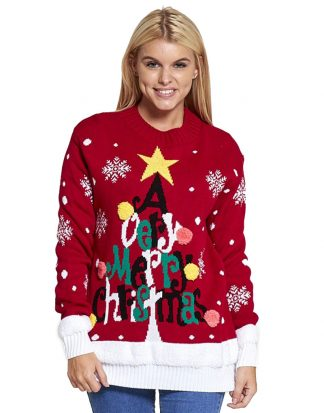 A Very Merry Christmas - Röd Jultröja