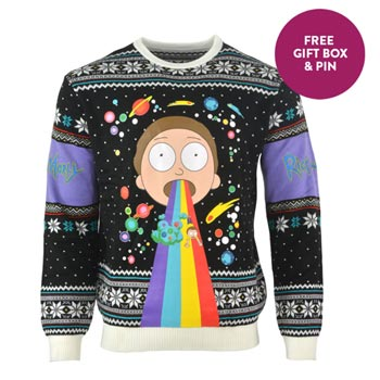 Rick and Morty / Christmas jumper / Rainbow M