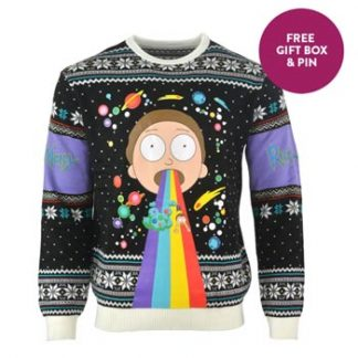 Rick and Morty / Christmas jumper / Rainbow S