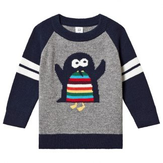 Gap Pingvin Tröja Light Heather Grey 3 år