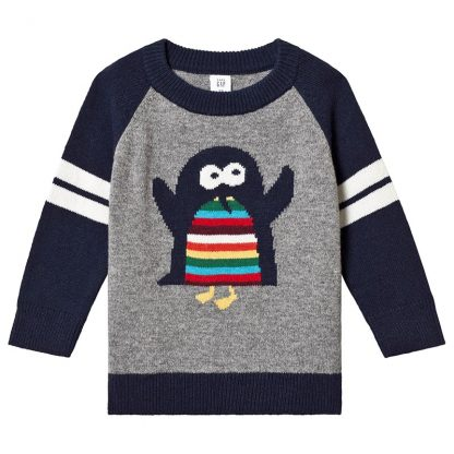 Gap Pingvin Tröja Light Heather Grey 5 år