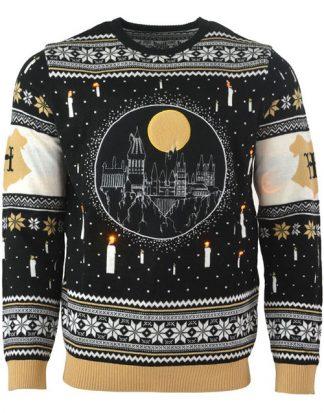 Licensierad Stickad Harry Potter Jultröja med LED-Ljus
