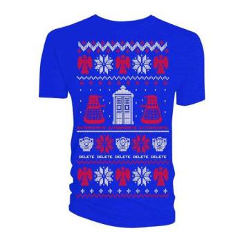 Doctor Who;Doctor Who: Ladies Tee/Ugly Xmas Sweater (Medium)