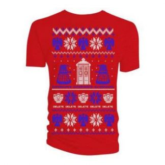 Doctor Who;Doctor Who: Men's Tee/Ugly Xmas Sweater (Large)