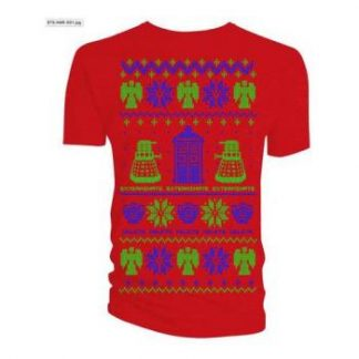 Doctor Who;Doctor Who: Men's Tee/Ugly Xmas Sweater (Medium)