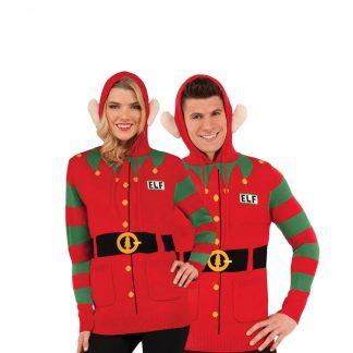 Jultröja Elf hoddie-L