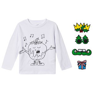 Stella McCartney Kids Christmas Velcro T-shirt Vit 6 years
