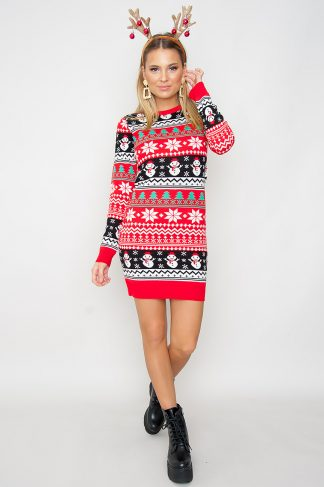 Christmas Jumper Dress - Jack Frost