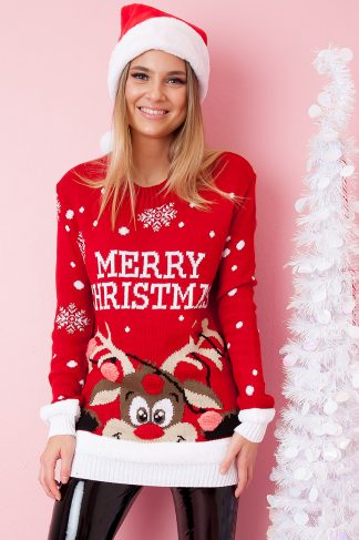 Christmas Sweater - Red-Nosed Rudolph Röd