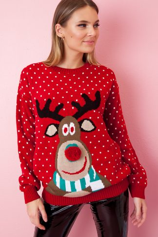 Christmas Sweater - Red Rudolph Nose