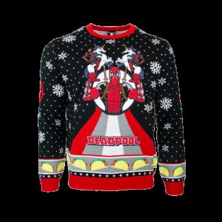 Jultröja - Deadpool Unicorn Christmas (S)