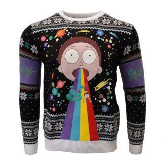 Jultröja - Rick And Morty: Morty Rainbow (M)