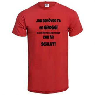 Tomten är far... / Grogg / Röd - XXL (T-shirt)