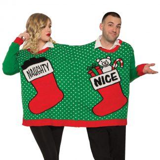 Jultröja dubbel naughty or nice