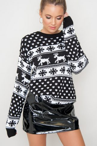 Christmas Sweater - Merry Black