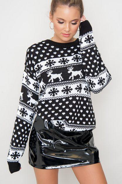 Christmas Sweater - Merry Black