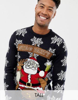 Brave Soul - Tall - Jultröja med renar-Marinblå
