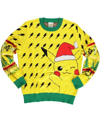 Licensierad Gul Pikachu Jultröja