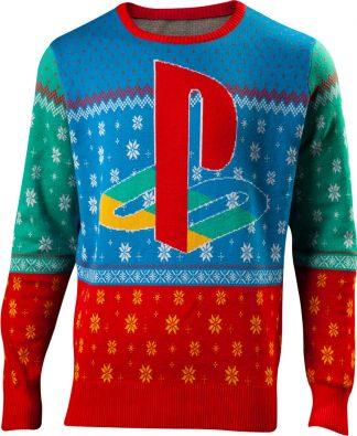 Licensierad Ljus Blå Tokyo PlayStation Jultröja