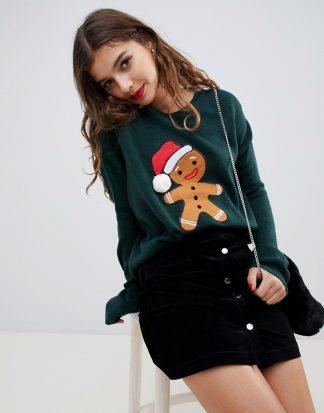Brave Soul - Jultröja med pepparkaka-Grön