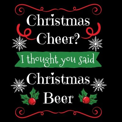Christmas cheer? Christmas beer! T-shirt (Herr,S)