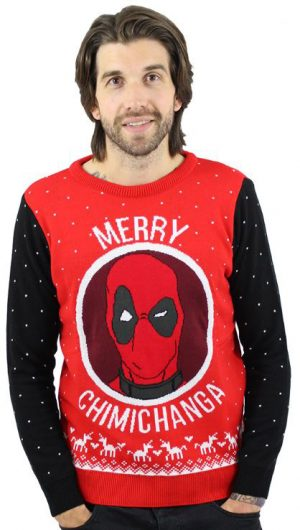 Deadpool Jultröja Merry Chimichanga