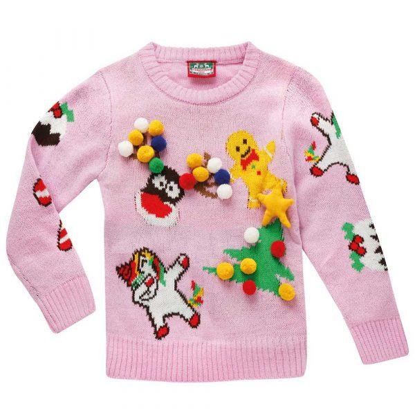 Stickad Jultröja 3D   Barn